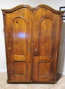 Antique 2 Door Armoire Wardrobe Chest