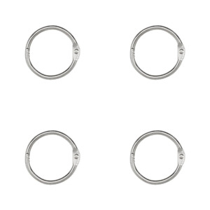 Acco Loose Leaf Binder Rings 1 Inch Capacity Silver 100 Rings pack Of 4