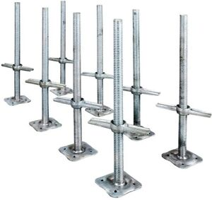 Leveling Jack 24 In Scaffolding Parts Adjustable Galvanized Steel 8 pack