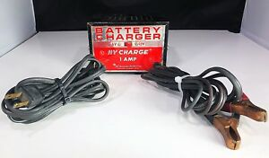 Schumacher Battery Charger Vintage Hy Charge 1 Amp 6 12 Volt Working Rare