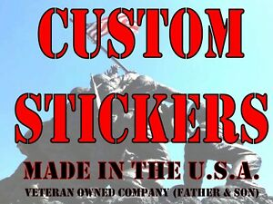 Custom Printed Full Color Vinyl Car Bumper Sticker Logo Decal