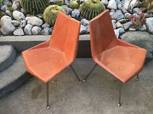 Vintage Pair Of Paul Mccobb Origami Chairs