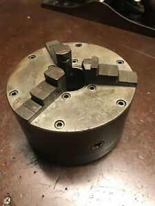 Logan 1063 6 3 jaw Universal Machinist Lathe Chuck 8 Thread Pitch Made In Usa