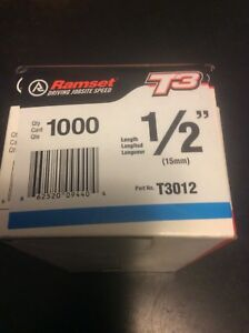 Ramset T3012 1 2 Steel Concrete Pin 5000 Pcs 5 Fuel Cells Best By Date Passed