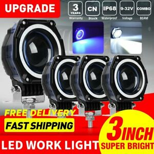 4x 3inch 80w Cree Led Spot Cube Work Lights Driving Pods Off road Atv Ute Lamp