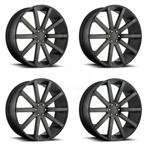 4 New 22 Dub Shot Calla S121 Wheels 22x9 5 6x5 5 6x139 7 30 Black Machined Rims
