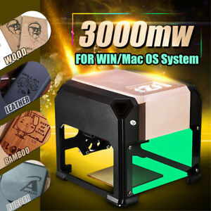3000mw Usb Desktop Laser Engraving Machine Cnc Diy Logo Marking Cutting Printer