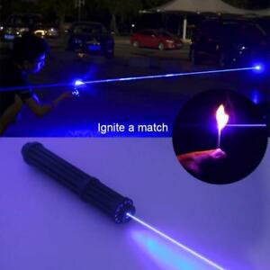 Burning Laser Pen Rechargeable 450nm Focusable Dot Cat 18650 Blue Laser Pointer