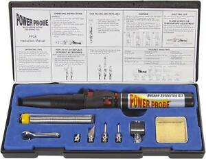 Tool Flame Torch Iron Butane Soldering Kit Power Probe Cordless Welding Gas
