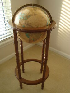 Vintage 12 Cram S Imperial World Globe Mountain Relief 36 Powell Stand