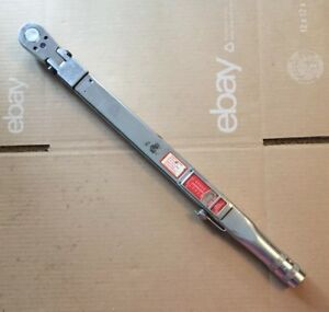 Snap On Tools 1 2 Drive Flex Head Torque Wrench 50 250 Ft Lb Tqfr250