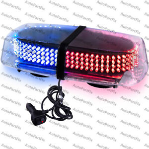 240 Led Magnet Blue Red Truck Strobe Flash Light Warn Traffic Advisor Hazard