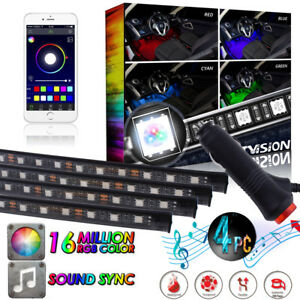 Multi Color Wireless Music Control Rgb Led Strip Lights For Auto Interior Lights