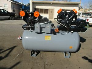 Speedaire Duplex Air Compressor 2 10hp 72cfm Cast Iron Series 5z405c