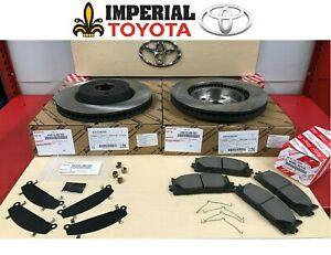 Toyota Genuine Oem New 2007 2017 Camry Oem Front Brake Rotors Tcmc Pads Shims