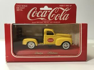 Solido Coca Cola Dodge Plateau Die Cast Car In Box 1/43 Scale!