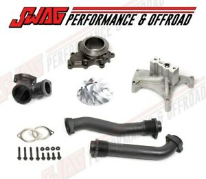 99 5 03 Ford Super Duty 7 3 Diesel Bellowed Up Pipe Turbo Pedestal Kit Non Ebv