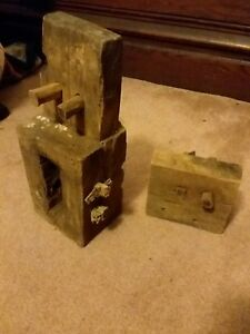 1870s Antique Vintage Barn Beam Mortise And Tenon With Original Pegs