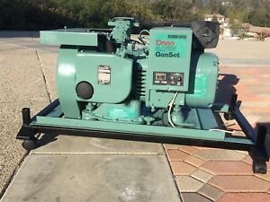 Onan Genset 4 0rv Generator 120v 4 1bfa 1r 16004 New Oil Air Filter Runs Great