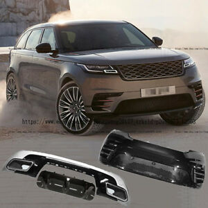 Body Kit Front Rear Bumpers Rear Diffuser With For Range Rover Velar 2018 2019