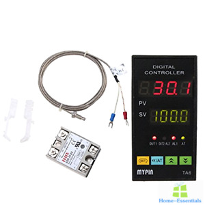Digital Pid Temperature Controller With Relay Ssr 25da Type K Thermocouple