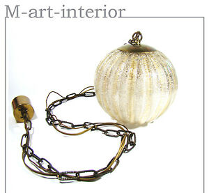 Murano Globe Glass 1 Of 3 Ceiling Lamp Pendant By Barovier Toso Italy 1960s