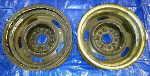 Matched Pair 1968 Corvette 15 X 7 Ag Rally Wheels June 10 1968 Date Ralley Wheel