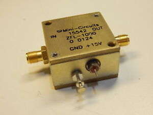 Mini circuits 15542 Zfl 1000 Coaxial Amplifier