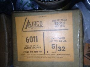 Airco 6011 5 32 Welding Rods Electrodes New 50 Lb Box Made In Usa