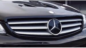 Mercedes Front Grille Star Emblm Distronic Upgrade Amg Style Plate A1648880411