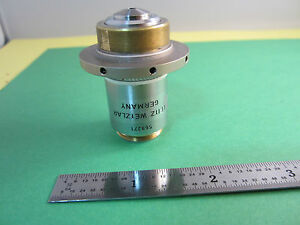 Microscope Interferometer Part Leitz Germany Objective Fluotar 100x Optics Bn a7