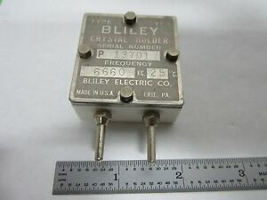 Vintage Wwii Bliley Vp5 Quartz Crystal Frequency Control Ham Radio Bin l7 29