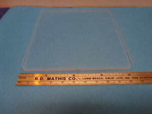 Microscope Part Optical Square Glass Stage Optics As Is 90 64