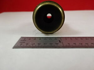 Microscope Part Antique Brass Objective Leitz Germany 7 Optics As Is N5 a 12