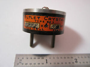 Vintage Wwii Quartz Radio Crystal Bliley Bc3 1992 Kc Frequency Control Bin 2b I