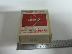 Vintage Ft 243 Quartz Radio Crystal Westline Los Angeles Frequency 14147 Kc New