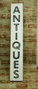 Large Wood Antiques Sign