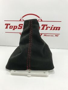 Fits 07 14 Mitsubishi Evo X 5 Speed Shift Boot Black Suede