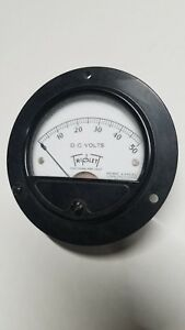 Vintage Triplet Model 321 Panel Meter 0 50 Dc Volts 3 1 2 Diameter Nos