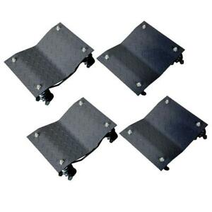 4pcs 3 Set Car Moving Tire Wheel Dollies Dolly Vehicle Auto Repair 16 X 12