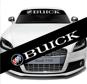 Auto Car Rear Front Windshield Emblem Reflective Banner Decal Stickers For Buick