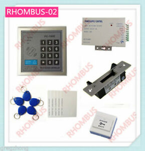 Access Control System W blot Electronic Lock 10 Em Card power Supply exit Button