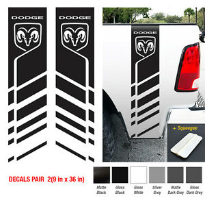 Dodge Ram 1500 2500 3500 Racing Stripe Hemi Ram 4x4 Decal Truck Sticker Vinyl H1
