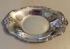 International Silver Company Silverplate Tray Nut Candy Dish 448 Orleans Roses