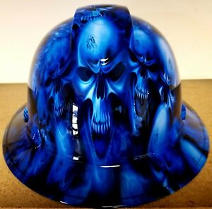 Hard Hat Full Brim Custom Hydro Dipped Osha Approved Ice Skull Limited Edition