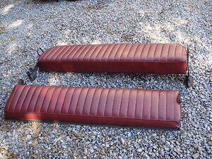 85 86 Ford F 150 250 Truck Super Cab Rear Bench Seat Red Vinyl Oem