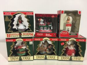 Coca Cola Musical Ornaments Bottling Works Santa Claus Trim a Tree Collection