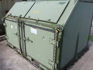Rare 8 5 Foot Aluminum Military Shelter Shipping Container Aar Mobility