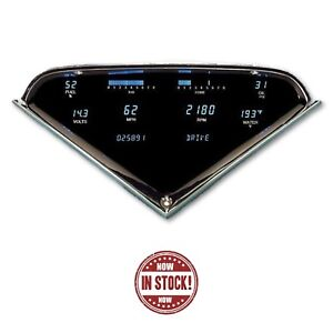 Dakota Digital 55 59 Chevy Truck Dash Gauge Dual Color Blue teal Vfd3 55c pu z