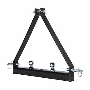 3 Point 2 Receiver Trailer Hitch Category 1 Tractor Tow Hitch Drawbar